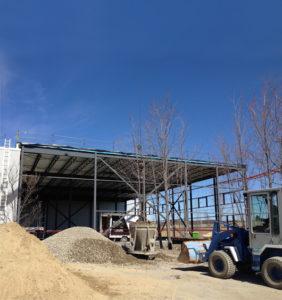 Les travaux pour l'agrandissement du siège social de Blainville en 2016