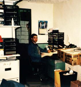 Les bureaux du premier local commercial de Les Emballages Ralik à Laval en 1998