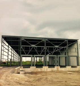 Les travaux pour l'agrandissement du siège social de Blainville en 2011
