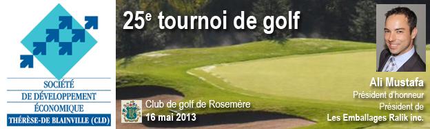 Ali Mustafa, président d'honneur du tournoi de golf de la SODET