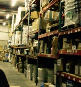 The warehouse of Ralik Packaging's new 11,000 sq.ft. commercial space in Laval