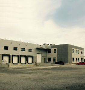 The construction of Ralik Packaging's 23,000 sq. ft. building in Blainville