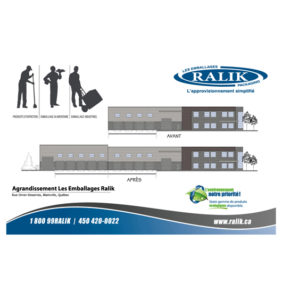 Ralik Packaging invested an important sum to expand its head office in Blainville in 2011