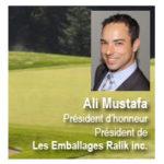 Ali Mustafa, président d'honneur du tournoi de golf de la SODET (CLD)